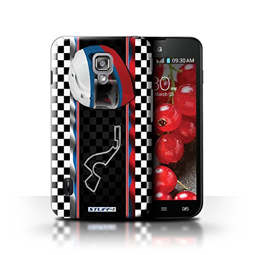 Kobalt® Imprimé Etui / Coque pour LG Optimus L7 II Dual / USA/Austin conception / Série F1 Piste Drapeau Russie/Sochi