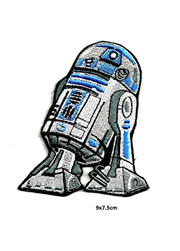 Star wars patches ultimate collection superhero movie tv film character patch iron on sew on distintivo ricamo-set machine embroidered| high quality iron on sew on patch ricamato distintivi per abiti giacche, cappotti cappelli borse borse (starwars r2d2droid robot)