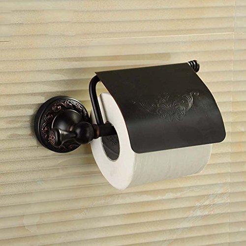 ILQ Alle Kupfer Schwarz Antikes Papier Toilettenpapier Toilettenpapier Toilettenpapier Handtuchhalter Toilettenpapier Handtücher Badezimmer Tissue Boxen,Schwarze Farbe (Papier-handtücher Personalisierte)