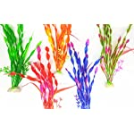 iNeith Fish Tank Plant Water Grass Aquarium Artificial Plastic Colorful Decor Ornament Decoration Submarine Pack of 5 11