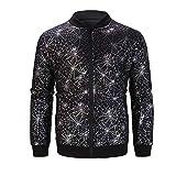 TWBB Sweatshirt Herren Cardigan Coat Spinne Netz Bedruckte Mantel Outwear Langarm Pullover Top Jumper