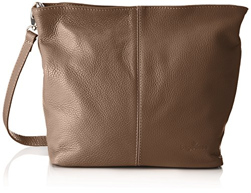 Bags4Less Damen Josy Schultertasche, 13 x 33 x 28 cm Braun (Taupe)