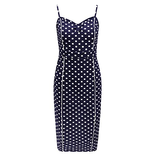 CUTUDE Damen Kleider Punkt Drucken V-Ausschnitt Schlank Frauen Kleid Plus Size Minikleid Mode 2019 Bodycon Partykleid Ärmellos Strandkleid
