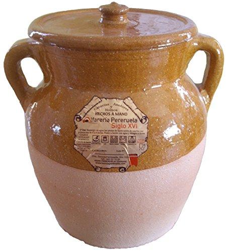 Alfarería Pereruela Siglo XVI APPUC5 - Puchero de Barro refractario auténtico, 5...