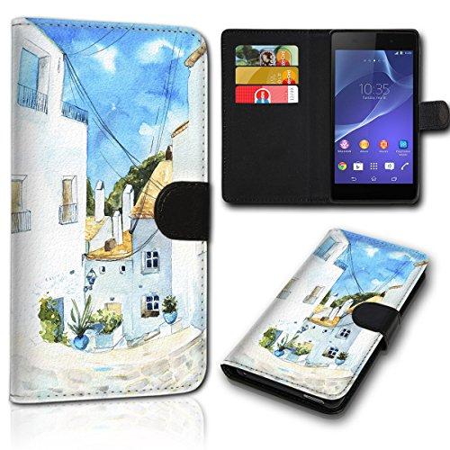 Book Style Alcatel A5 LED 5085D Tasche Flip Brieftasche Handy Hülle Kartenfächer für Alcatel A5 LED 5085D - Design Flip SVH1246