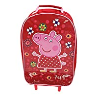 PEPPA PIG GIRLS WHEELED BAG TRAVEL HAND LUGGAGE CABIN SUITCASE HOLIDAY BAG NEW