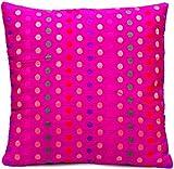 Indische Seide Deko Kissenbezüge 40 cm x 40 cm, Extravaganten Design für Sofa & Bett Dekokissen, Kissenhülle aus Jaipur-Indien. Angebot gültig solange der Vorrat reicht. Farbe: Magenta
