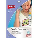 Apli 4128 Pack de 10 Feuilles de Papier transfert