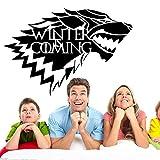 Inovey Game Of Thrones Haus Stark Wolf Vinyl Aufkleber Aufkleber Hbo Winter Kommt -L