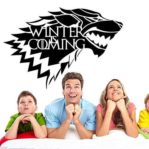 Inovey Game of Thrones Maison Stark Wolf autocollant en vinyle autocollant HBO Winter arrive -S