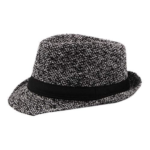 Demarkt 1 stück Panama Hut Jazz Hut Mafia Gangster Herren Fedora Trilby Bogart Hut Herren 1920s Gatsby Kostüm Accessoires (schwarz) (Herren Gatsby Kleidung)