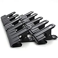 Set of 10 Black Large Metal Binder Clips Bulldog Clips for Office Supplies,62mm