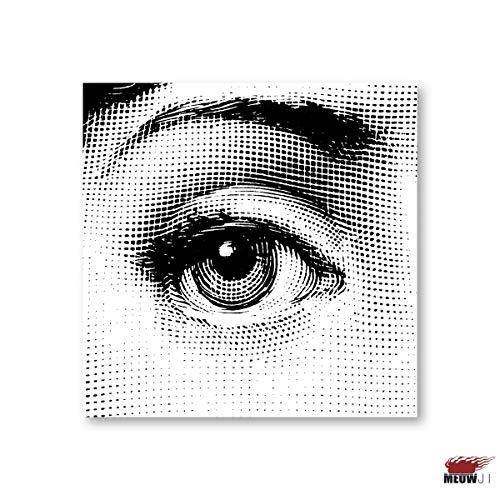 Rote Lippen Augen Poster Wandkunst Gedruckt Leinwand Malerei Für Zimmer Das Gesicht Dekoration Wand-Dekor Bild ()