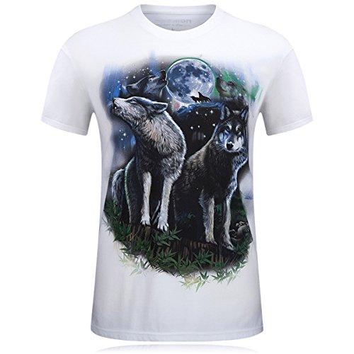 JARLIF -  T-shirt - Uomo bianco (Wall Street Skeleton)