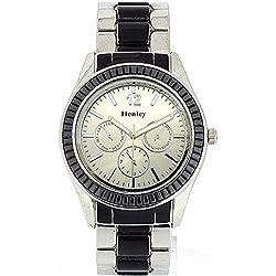 Henley elegante Armbanduhr mit imitierten Chronographen