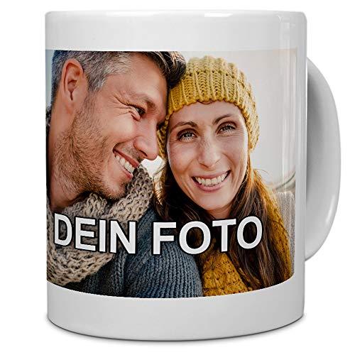 PhotoFancy® - Tasse mit Foto Bedrucken Lassen - Fototasse Personalisieren - Kaffeebecher zum selbst gestalten (Weiß)