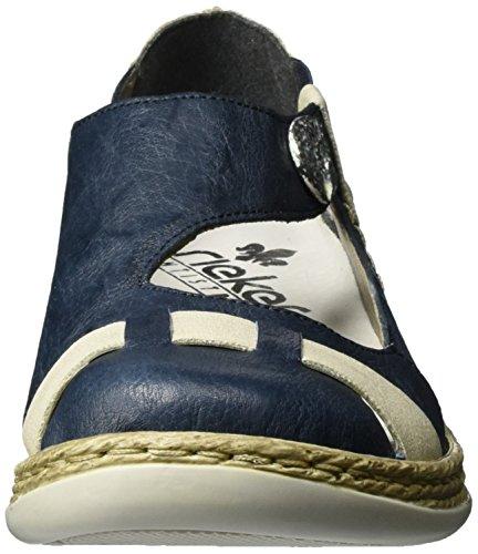 Rieker Damen 46457 Geschlossene Ballerinas Blau (royal/crema / 14)