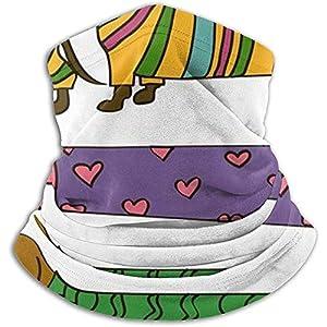 Merle House lustige Cartoon lange Dackel Tiere Wildlife Neck Gaiter, Kopfbedeckungen, Gesicht Sonnenmaske, Magic Scarf, Bandana, Sturmhaube, Stirnband