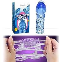 Safety TPE Soft Gels Kondome wiederverwendbar Cock Sleeve Stimulation G Burst für Paare Netzgewebe Stecker blau preisvergleich bei billige-tabletten.eu