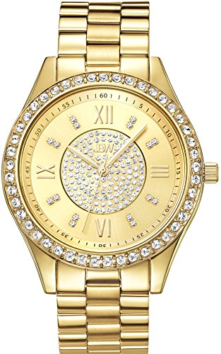 JBW WOMEN'S MONDRIAN 37MM 18K GOLD PLATED BRACELET & CASE QUARTZ WATCH J6303B