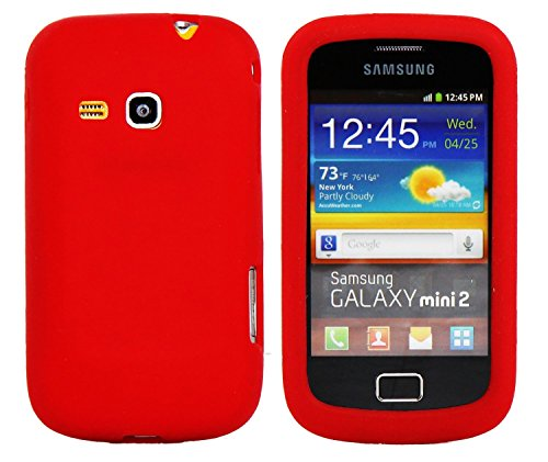Ektor Custodia Cover in Silicone con Design Innovativo per Samsung Galaxy mini 2 S6500 - Rosso