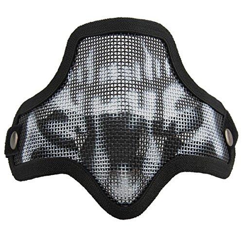 Pinzhi Airsoft Metalldraht Mesh Half Face Maske Taktische Schutzmaßnahmen Maske (Airsoft Draht)