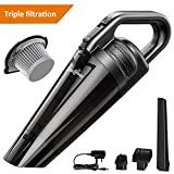 LIBERRWAY Handheld Cordless Vacuum, Portable Rechargeable Car Vacuum Cleaner with LED Light, Powerful