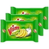 Vim Bar Offer Pack 200g Pack Of 3 + 1 Green Scrub + 1 Container Box