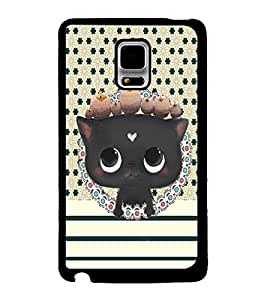 Fuson 2D Printed Cat Designer back case cover for Samsung Galaxy Note Edge - D4370