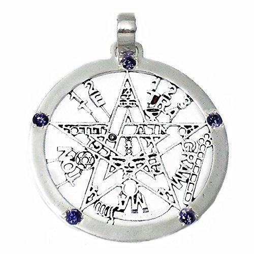 Colgante plata ley 925m tetragramatón 37mm