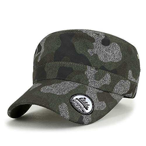 968c79b6a70be ililily Camouflage Pattern Military Army Hat Casual Color Cadet cap