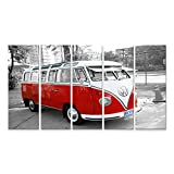 islandburner Bild Bilder auf Leinwand VW Bulli Bus T1 Vintage Wandbild, Poster, Leinwandbild MVG