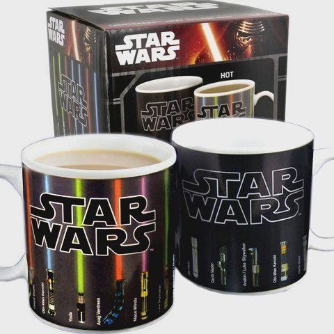 Authentic Star Wars Lightsaber Heat Color Changing Mug by Mean Muggin