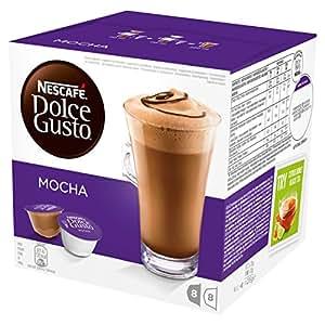 NESCAFÉ DOLCE GUSTO MOCHA Cioccolata al caffè 3 confezioni da 16 capsule [48 capsule]