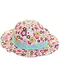 Trendy Style rétro Imprimé floral soleil chapeaux pour bébé en coton pour enfant/bébé