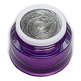 PREMIUM Glam Glitter Gel Silver Silber Farbgel 5ml RM Beautynails