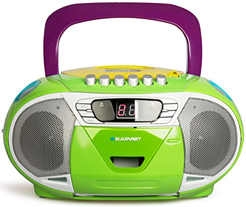 BLAUPUNKT Boombox 11 (Vers. 2017) tragbares CD-Radio mit Kassettenplayer (LED-Display, Backlight, 2x 2,2 Watt RMS, UKW-Tuner) multicolor