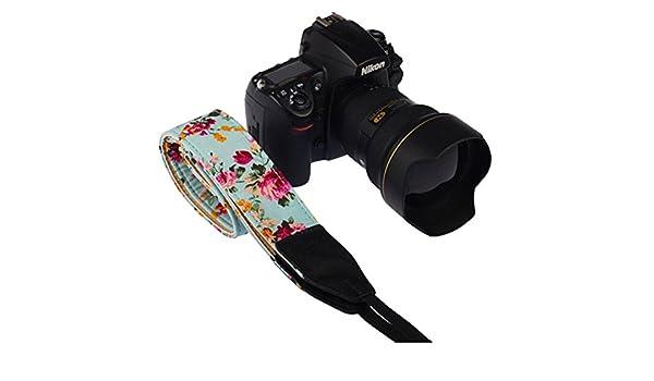 SLR Kamera Hals Schultergurt Gurt LEDMOMO DSLR Baumwolle Leinwand DSLR SLR Kamera Hals Schultergurt Gurt f/ür Nikon Sony oder andere Kameras Green Vintage floral