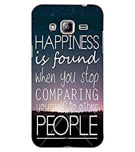 ColourCraft Quote Design Back Case Cover for SAMSUNG GALAXY J3 (2016)