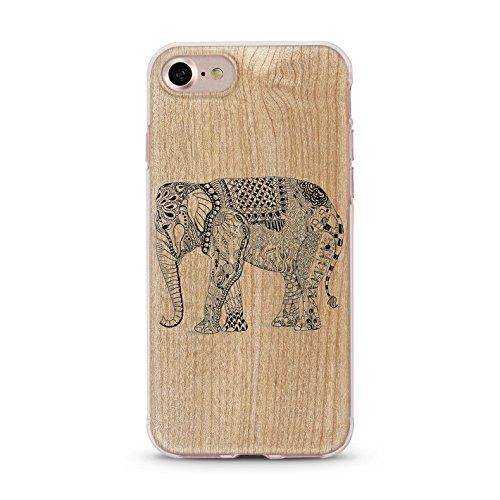 Handyhülle für Apple iPhone 7 ( Anker pink ) - Hülle - Schutzhülle mit Motiv - TPU Silikon Hülle - Case - Cover - Schale - Backcover - Handytasche Elefant 2