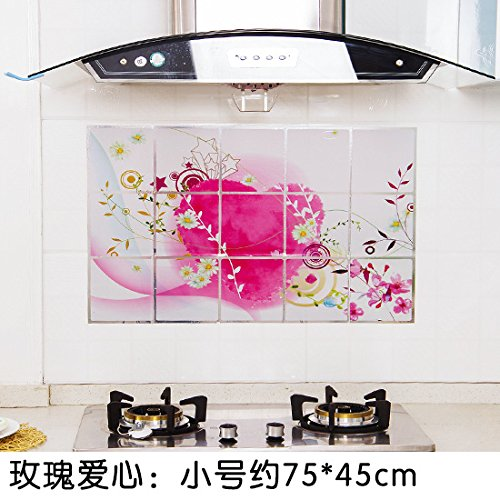 KXZDAS Küche Hochtemperaturbeständige ölfesten Aufkleber Selbstklebende Transparente Folie...