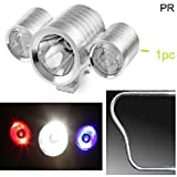 PR Bike Fog Lamp CREE Triple LED Aux Lights 1pc Silver High Beam,Low Beam,Flashing Modes LED Motorycle Fog Light Bike Projector Auxillary Spot Beam Light with For TVS Wego Disc