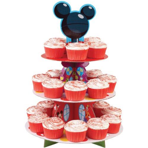Preisvergleich Produktbild Wilton Etagere Design Micky Maus, 29,9x40,6cm, für 24 Stück, mehrfarbig