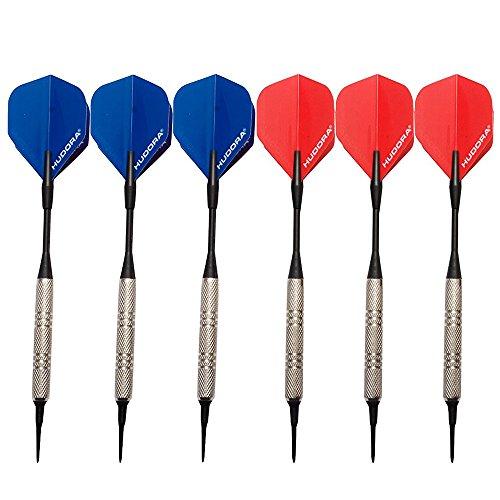 HUDORA Soft-Darts Set, Darts für elektronische Dartscheibe, 6 Stück, 77085