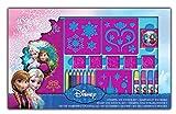 Arditex–066376–Ausmalen Disney–Set, Schablonen und Stempel–Die Eiskönigin–Frozen