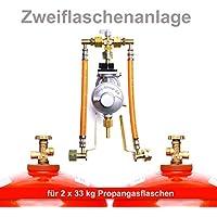 Flaschenanlage, Druckminderer, Propangas Fl/üssiggas Anlage, Kleinflaschenanlage Automatische 50 mbar Zweiflaschenanlage f/ür 11 kg Propangasflaschen//Gasflaschen MADE IN GERMANY