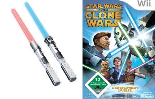 Star Wars The Clone Wars: Lichtschwert-Duelle + 2 Lichtschwerter (Wii) - Wii-lichtschwert