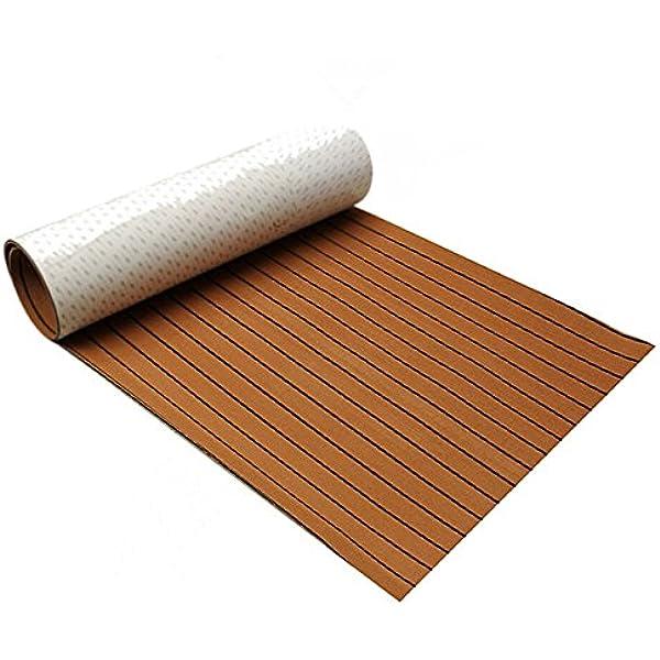 EsportsMJJ 600X2400 X 6.5 Mm Marine Flooring Faux Teak Eva Espuma Barco Cubierta Hoja