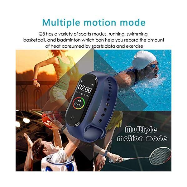 BATHRINS Pulsera Inteligente, [Actualización] M4 Fitness Tracker Rastreador de Actividad Bluetooth Impermeable Monitor… 3