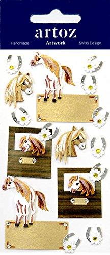 Ponys und Hufeisen Craft Verzierung-Animal Scrapbooking Karte Aufkleber -